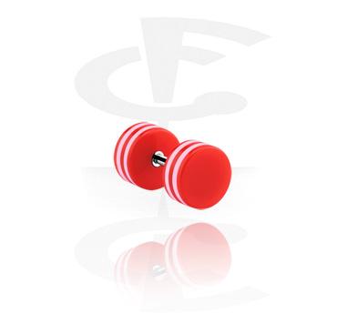 Fake Piercings, Falso plug, Acero quirúrgico 316L