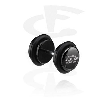 Black Fake Plug