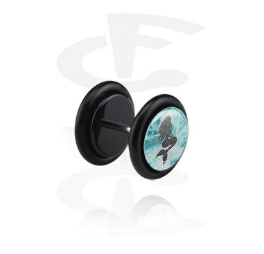 Black Glitter Fake Plug