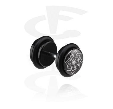 Imitacja biżuterii do piercingu, Black Fake Plug, Acrylic