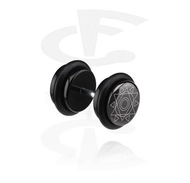 Faux Piercings, Faux plug noir, Acrylique