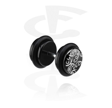 Fake Piercings, Falso plug negro (oreja derecha), Acrílico