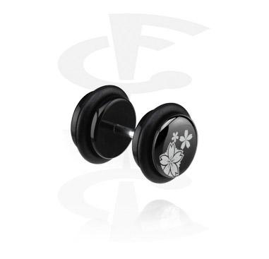 Lažni piercing nakit, Black Fake Plug (Left Ear), Acryl