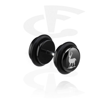Falso plug negro (oreja izquierda)