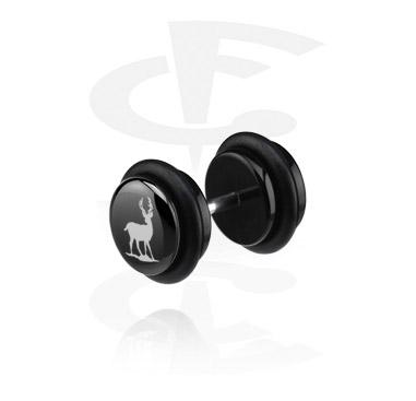 Schwarzer Fake Plug (rechtes Ohr)