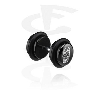 Falešné piercingové šperky, Black Fake Plug, Acryl