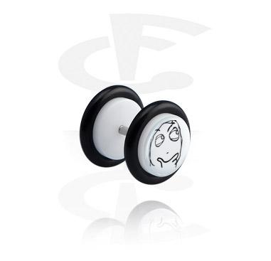 Imitacja biżuterii do piercingu, White Fake Plug, Acrylic