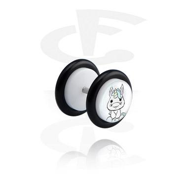 Witte Glitter Fake Plug