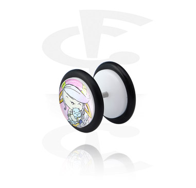 Glitter Fake Plug branca
