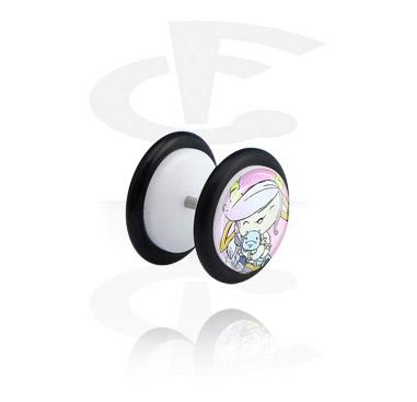 White Glitter Fake Plug