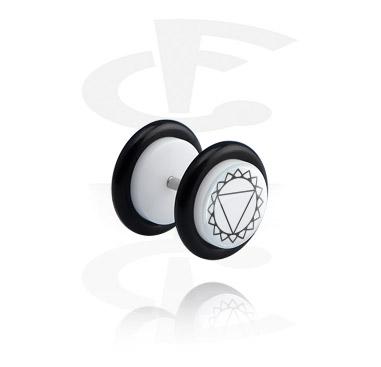 Falešné piercingové šperky, White Fake Plug, Acrylic
