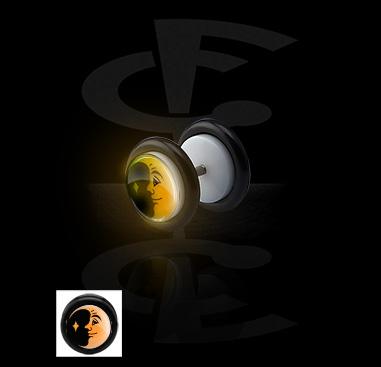 """Faux plug """"Glow in the Dark"""""""
