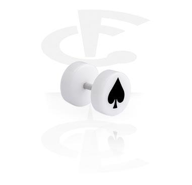 Falešné piercingové šperky, Bílý falešný plug, Acrylic