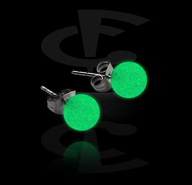 """Glow in the Dark"" Ear Studs"