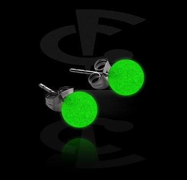 """""""Glow in the Dark"""" Ear Studs"""