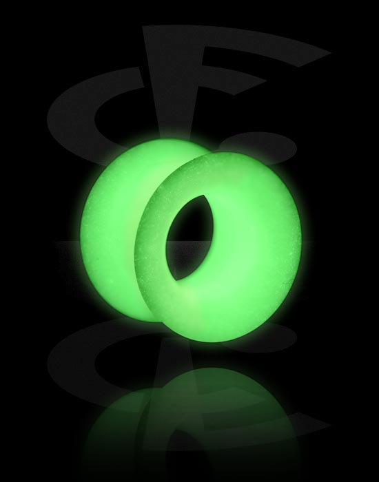 """Tunnels & Plugs, """"Glow in the Dark"""" Tunnel, Silicone"""