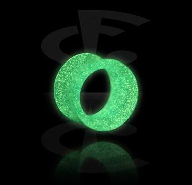 """Double Flared Tunnel """"Glow in the Dark"""""""