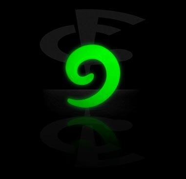 """""""Glow in the Dark""""-Spirale"""