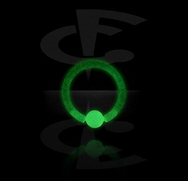 Glow in the Dark Ball Closure Ring