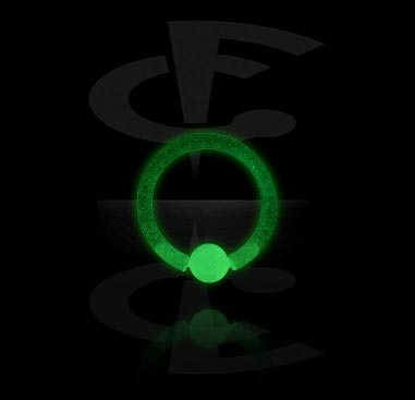 Glow in the Dark Ball Closure Ring