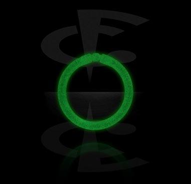 Kółka do piercingu, Glow in the Dark Segment Ring, Bioflex