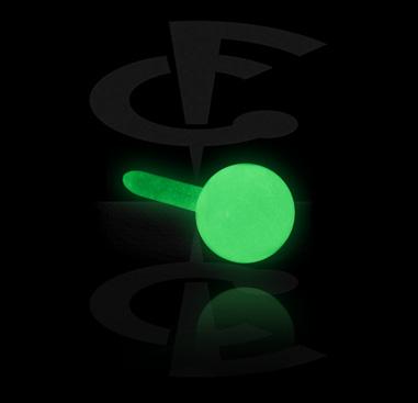 """""""Glow in the Dark""""-pallo sisäkierteiseen Bioflex-labret-koruun"""