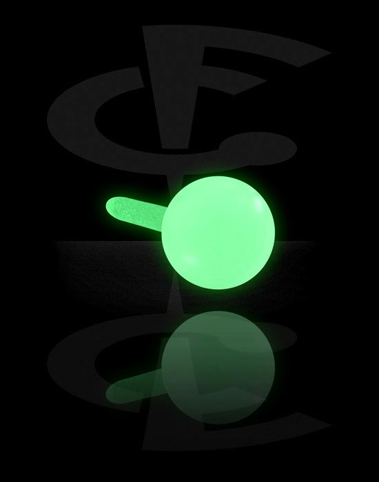 Balls, Pins & More, Glow in the Dark Ball for Bioflex Internal Labrets, Bioflex