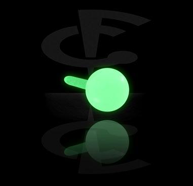 """""""Glow in the Dark""""- шарик для лабретов с внутренней """"резьбой"""""""
