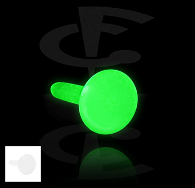 "Disco para Labrets internos de bioflex ""Glow in the Dark"""