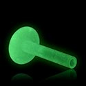 "Palline e Accessori, Barretta labret per accessori ad incastro ""Glow in the Dark"", Bioflex"