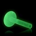 Kuličky a náhradní koncovky, Glow in the Dark Internal Labret Pin, Bioflex