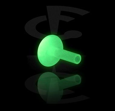 Kulki i inne zakończenia, Glow in the Dark Internal Labret Pin, Bioflex