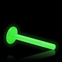 Balls & Replacement Ends, Glow in the Dark Internal Labret Pin, Bioflex