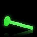 """Bolas y Accesorios, Barra """"Glow in the Dark"""" para internal labret, Bioflex"""