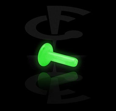 Glow in the Dark Internal Labret Pin