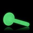 """Pallot ja koristeet, """"Glow in the Dark"""" Labret Pin, Bioflex"""