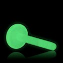 "Kuglice i zamjenski nastavci, ""Glow in the Dark"" Labret Pin, Bioflex"