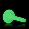 """Balls & Replacement Ends, """"Glow in the Dark"""" Labret Pin, Bioflex"""