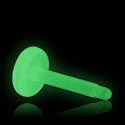 "Labretit, ""Glow in the Dark"" Labret Pin, Bioflex"