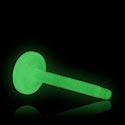 """Labrety, """"Glow in the Dark"""" Labret Pin, Bioflex"""