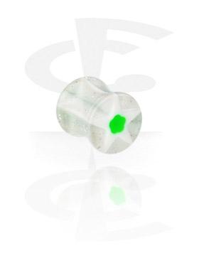 Tunele & plugi, Plug siodłowy z efektem Murano, Acryl