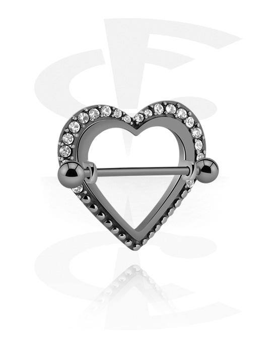 Nännikorut, Nipple Shield kanssa Heart Design, Kirurginteräs 316L