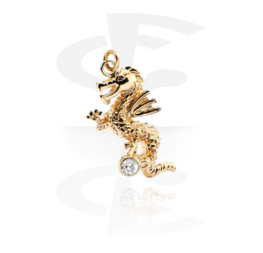 Kuličky a náhradní koncovky, Charm, Gold-Plated Brass