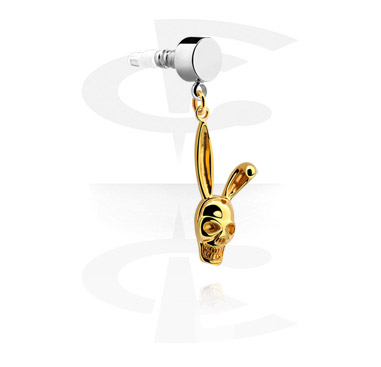 Phone Accessories, Earphone Plug Charm, Gold Plated