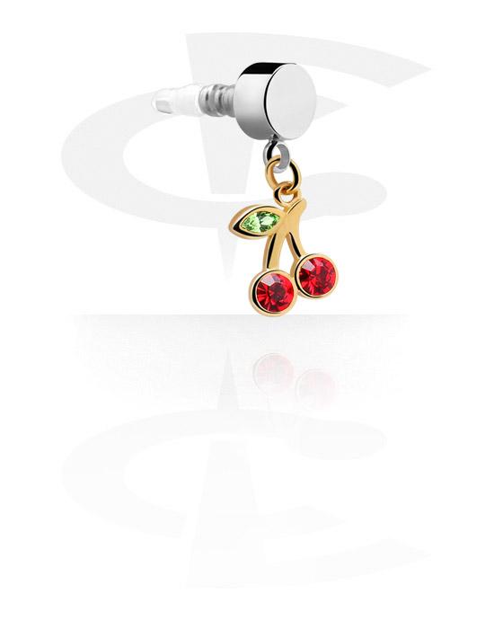 Telefonpynt, Earphone Plug Charm , Gold Plated Brass