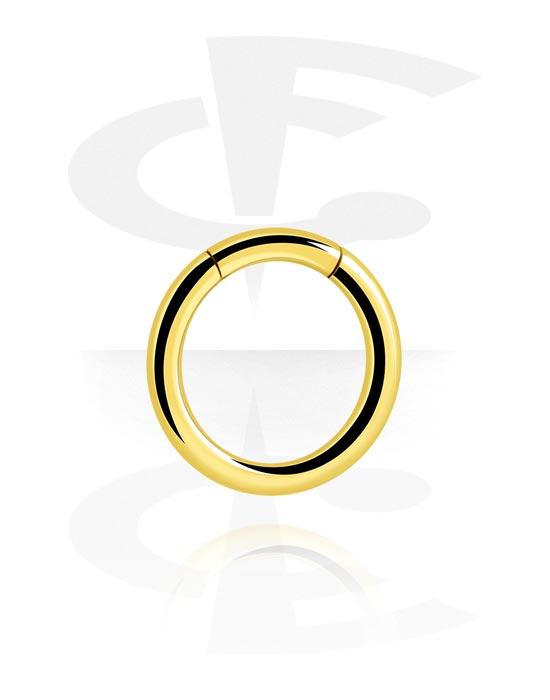 Piercing Ringe, Segment-Ring, Vergoldeter Chirurgenstahl 316L