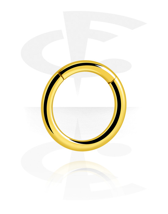 Piercing Rings, Multi-Purpose Clicker, Gold Plated Surgical Steel 316L