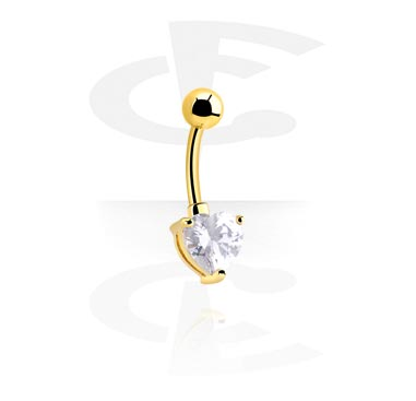 Curved Barbells, Gold-Plated Curved Barbell, Gold Plated