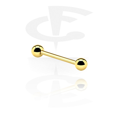 Šipkice, Barbell, Gold Plated Surgical Steel 316L