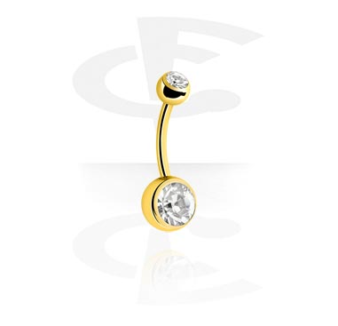 Curved Barbells, Curved Barbell, Gold Plated
